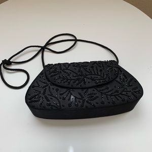 Black Purse with beaded detail